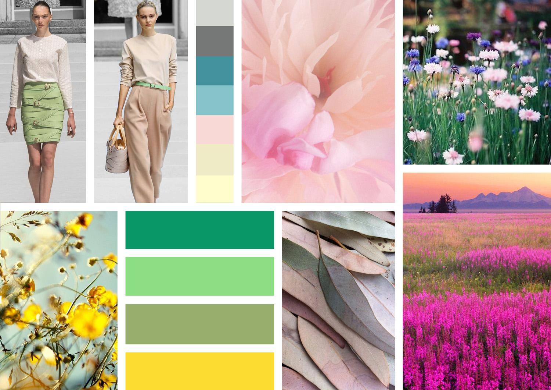 Лето цветотип цвета палитра цветов фото